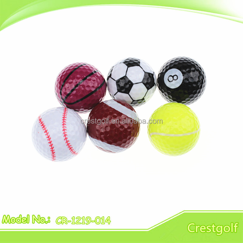 golf ball with different sport pattern