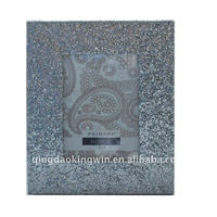 Glitter Silver Photo Frame,crafted of MDF and PU Leather