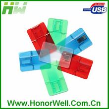 China Factory Price Business Credit Card USB Flash Drive folding shape USB with custom logo