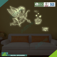 Popular halloween eco friendly removable customized glow in the dark constellations