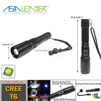 Aluminum Cranking Flashlight Cree T6 LED 10W Power Bank with Flashlight