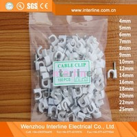 High Quality Hot Sale PE Plastic Round Nail Cable Clip