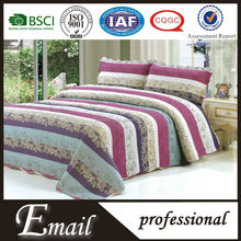 Hot sale Elegant design cotton padded quilt / printed quilted bedpread