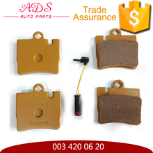 China auto part supplier D645 cheap and best 003 420 06 20 brake pad for W220 Rear Axle Brake Pad Set