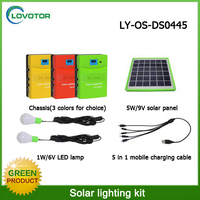 Mini led solar kit 5W solar panel solar dusk to dawn lights