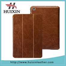 Vintage Business Slim Genuine Leather Smart Cover Case for Ipad mini 3