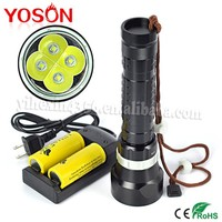 2pcs 18650 /26650 4pcs CREE XML-L2 LED Diving Underwater Torch