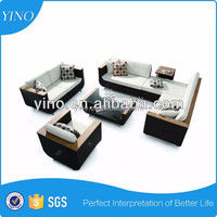 Black & White 4pc Modern Patio Sofa Set Chesterfield Sofa for Living Room Furniture Design Sofa Bed SM0017