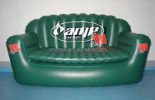 pvc flocked self inflating inflatable chair sofa for living