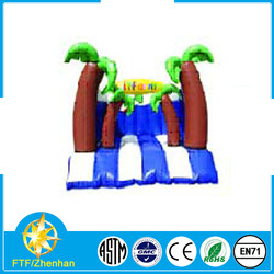 Coconut Palm Themed Children Mini Inflatable Bouncy House /Castle