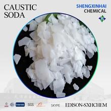 De alta qualidade soda cáustica em flocos 99% ingredientes para fazer sabão