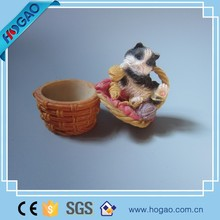 Decorative cat design resin jewelry box for home decor , small resin jewelry with cat cover for sale , cute jewelry box gift