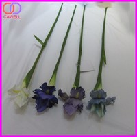 yiwu wholesale single silk artificial iris flower
