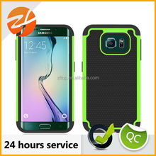 Factory Wholesale Price Football Texture Antiskid Silicone and PC Rugged Hybrid Case for Samsung Galaxy S6 Edge