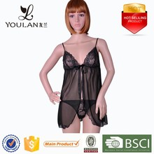 Factory Direct Sale Fashion Young Women Transparent Midnight Sexy Lingerie Hot Sale