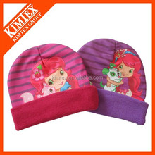 Fashion Knitted sublimation winter hats with pompom