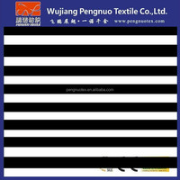 black and white stripe spandex stretch fabric /88 polyester 12 elastane fabric/bride seat fabric