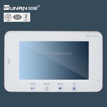 Most popular video intercom for building /villa / flats 7 inch TFT video door phone