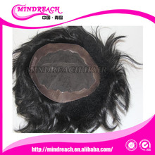 Indian remy human hair toupee / wig for black men