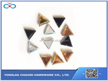 Triangle shape hot fix rhinestone flatback hot fix rhinestone cheap acrylic stone