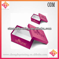 12*7*6 inch paper shoe packaging box with hote stamping logo