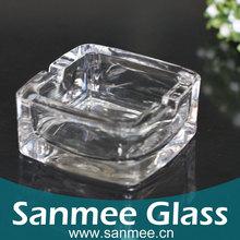 Bohemia Crystal Glassware Factory Direct Hot Promotional Round Ashtray,Square Glass Ashtray
