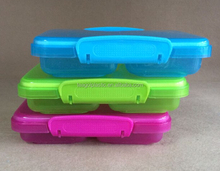 Plastic snack box divided 350ml Plastic clip lock storage container 350ml #TG10916