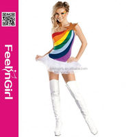 Wholesale Newest Design Carvinal Dress Rainbow Costumes