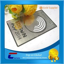 Wholesale 2015 top selling hole punched business metal card for Gift/VIP/Promotion