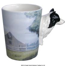 Shape Handle Mug Farm Dog