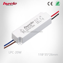 LPC-20W constant current LED power supply similar to meanwell 700mA with CE ROHS KC PSE TUV CCC certification