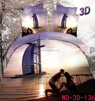 New home designs Sweet lovers style 100% cotton 3d bedding set