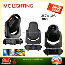 Moving Beam Light 280w 10r, Wash Spot Beam 3in1 Stage Show stage light