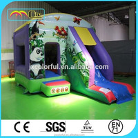 CILE Cartoon Printed Panda Bamboo Inflatable Jumper Bed Castle for Advertising