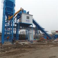Hydraulic HZS105 twin shafts mixer concrete batching plant