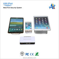 Open display merchandises loss prevention,security alarm system for cell phone/tablet display A36-2port
