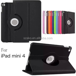 360 Degree Rotation Leather Case For iPad Mini 4.With Holder Stand Flip Cover For iPad MIni 2/3/4.