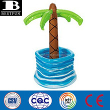 palm tree inflatable pool cooler beer ice bucket plastic drink ice holder