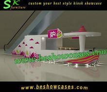Indoor shopping mall Free yogurt furniture design for yogurt store with yogurt kiosk for sale