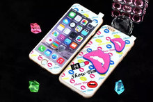 Colorful Red Lip Design Colored Tempered Glass Screen Protector Flim Cover For iPhone 6S Tempered Glass Screen Guard