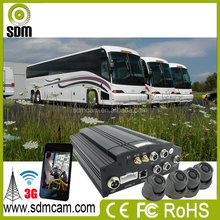 3G sim card CCTV Equipment 4ch Mobile DVR With GPS HD Taxi Camera System