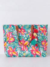 Flowers design printing fashion canvas bag handbags