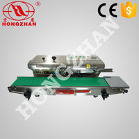 Hongzhan CBS low price durable continuous bag sealing Continuous film sealer with solik-ink coding function