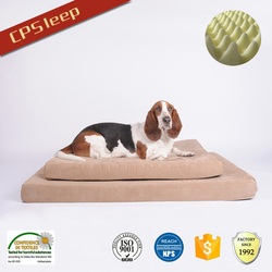 Eco-Friendly Manufacturer Memory Foam Square Brown Dog Product, Pet Product