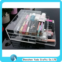 hot selling box with pull-out drawers wholesale cheap, crystal clear acrylic material drawer case