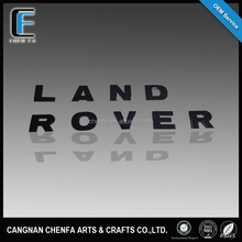Hot sale ABS plastic chrome plated adhesive car emblem logo 3d alphabet letter sign stickers for land rovers