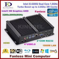 Mini itx computer core i5 4200U mini pc x86 4GB RAM+128G SSD 2*RS232 COM Port,USB3.0,VGA,HD MI,300M WIFI