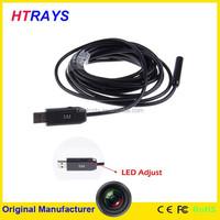 5M-7mm Mini endoscope industrial pipeline 6LED portable endoscope led light source