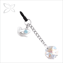 Newest Unique Sliver Plated Crystals Anti Dust Plug