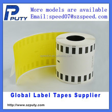 DK44605 continuous Length Removable yellow Paper tape DK-44605